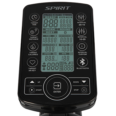 Spirit Fitness AB900 Air Bike monitor.