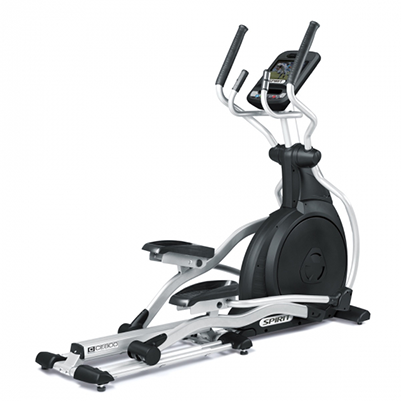 View from back/right side of Spirit Fitness CE800ENT Elliptical Trainer.