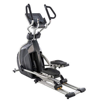 View from back/right side of Spirit Fitness CE850 Elliptical.