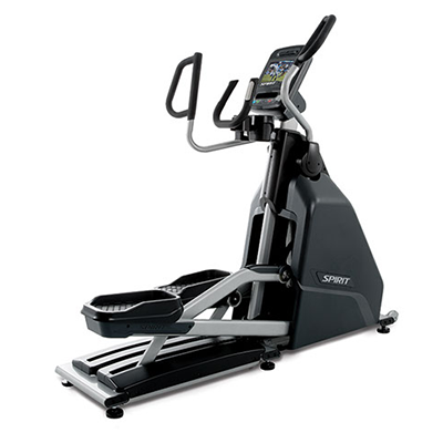 View from back/right side of Spirit Fitness CE900 Elliptical Trainer.