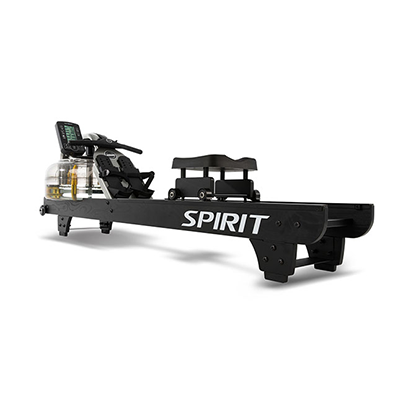 View from right side of Spirit Fitness CRW900 Water Rower.