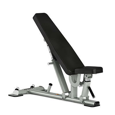 View from front/left side of Spirit Fitness ST800FI Multi-Angle Bench.