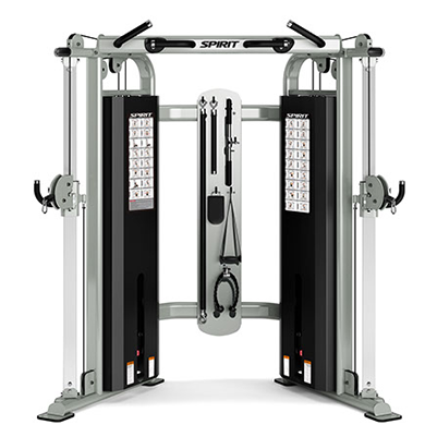 View from front/left side of Spirit Fitness ST800FT Functional Trainer.
