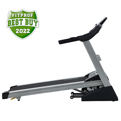 Side view of the Spirit Fitness XT385 treadmill