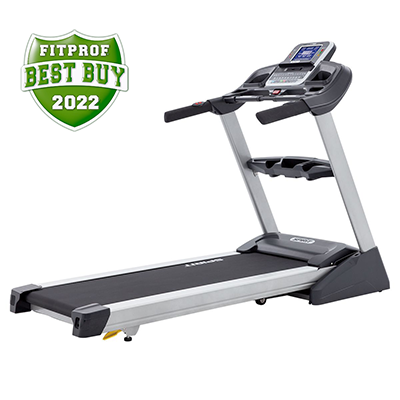 Right side/back view of the Spirit Fitness XT485 treadmill