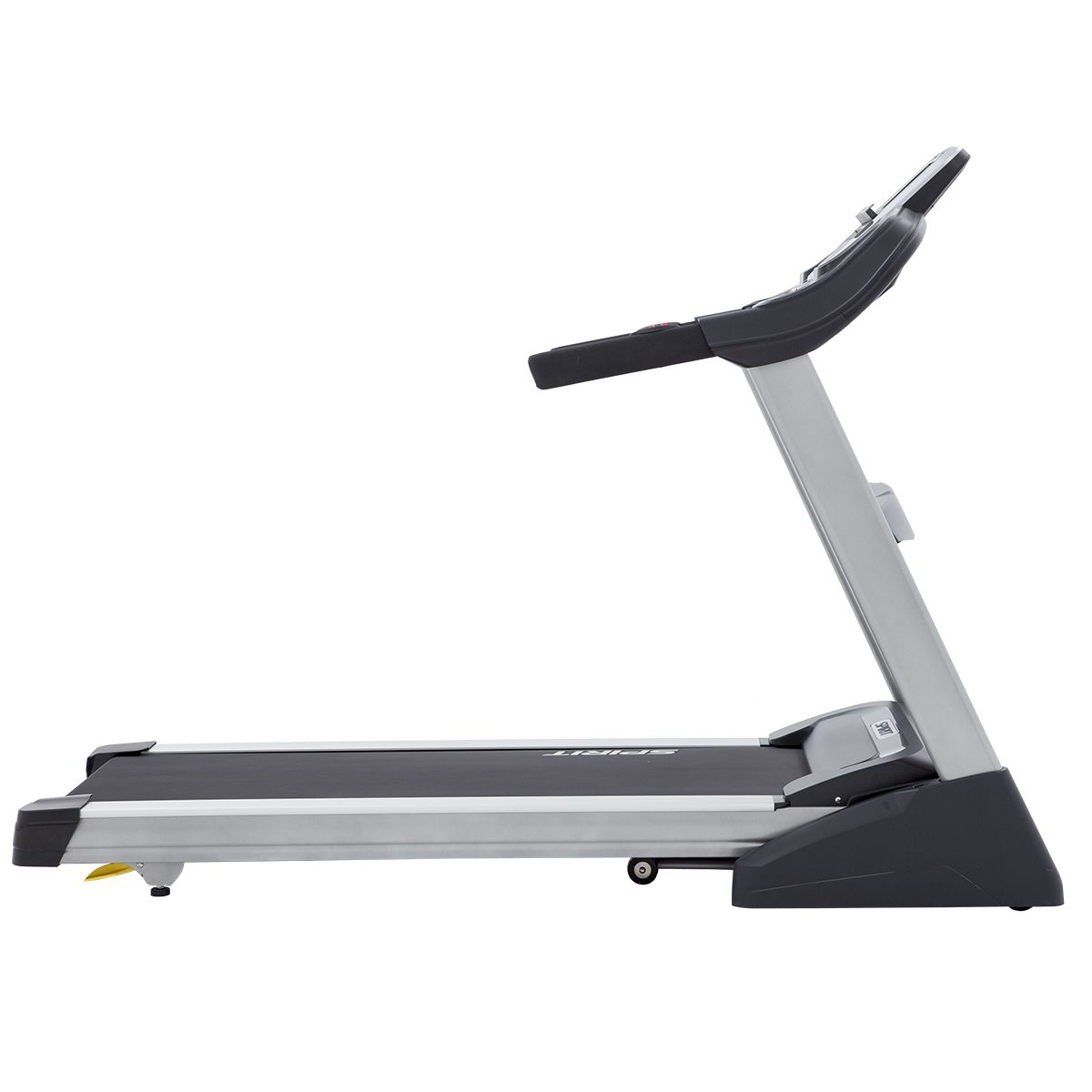 Side view of the Spirit Fitness XT485 treadmill