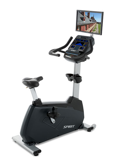 Spirit Fitness CU900 with TV bracket