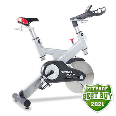 Side view of Spirit Fitness XIC600 indoor Bike displayed on transparent background