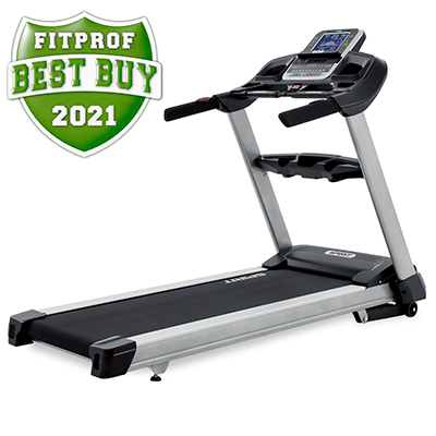 Side view of Spirit Fitness XT685 Treadmill displayed on transparent background